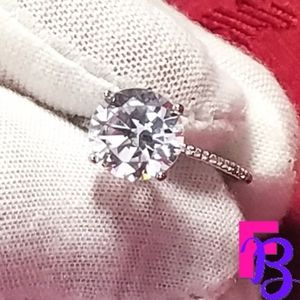 3 CT Solitaire .925 Silver Luxury Engagement Ring